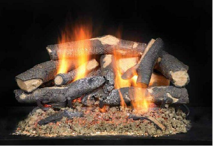 fireside supreme oak gas logs cyprus air fireplaces va